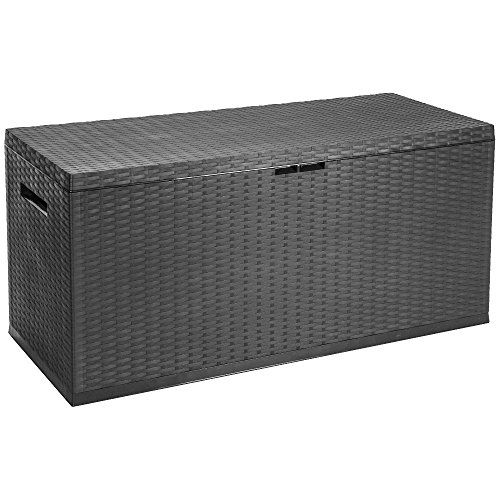 350  litre outdoor garden patio plastic storage box chest container multi box with lid