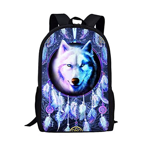 Showudesigns Mochila escolar, mochila de lona para niños