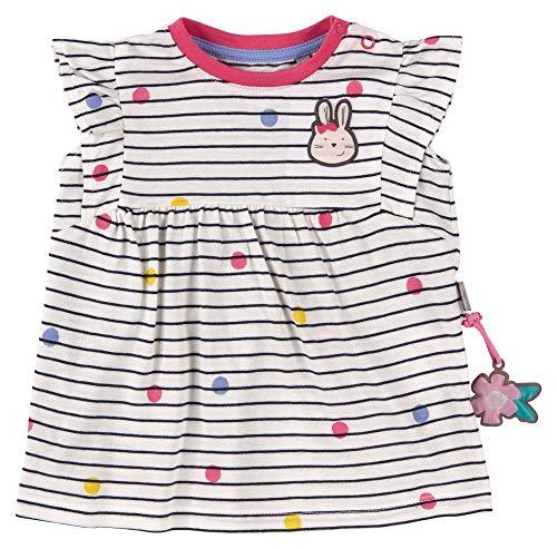 SIGIKID Baby - Mädchen Kleid Sommerkleid Kurzarm aus Bio-Baumwolle, abnehmbares Hangtoy, Mehrfarbig, 80