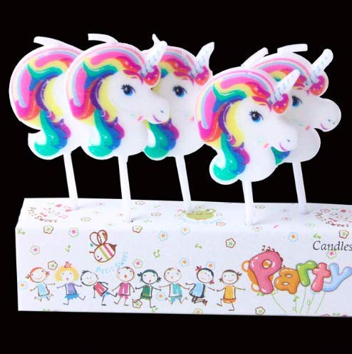 Xylsto Unicorn Theme Candles (Pack of 5) | PARTY-ACT-131