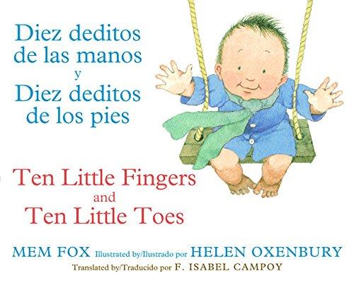 Image of Diez deditos de las manos y Diez deditos de los pies / Ten Little Fingers and Ten Little Toes bilingual board book (Spanish and English Edition)