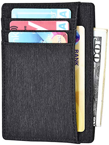Waterproof Wallet Slim Minimalist Wallet For Mens Rfid Blocking Front Pocket Wallet For Womens Secure Durable Thin Credit Id Card Holder Small Grey Wallet