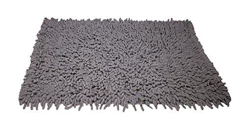 VLiving Forme rectangulaire Home Decor 100% Coton Super Absorbant Chambre à Coucher de Salle de Bain de Bain, Tapis de Sol Tapis de Sol, Gris, Taille 61 x 88,9 cm