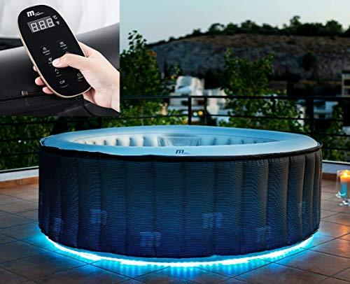 DEKO VERTRIEB BAYERN XXL Luxus LED SPA Whirlpool Set aufblasbar Outdoor Indoor Pool +Heizung + Fernbedienung Modell 2021 MSPA