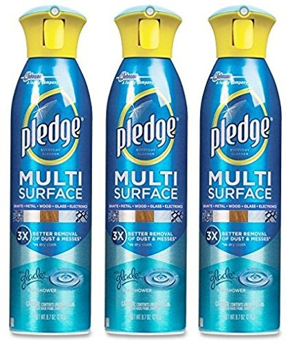 Pledge 72416 9.7 Oz Rainshower Scent Multi Surface Spray Cleaner by Pledge