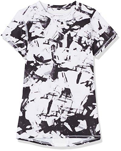Marca Amazon - RED WAGON SFP1-G7, Camiseta Para Niños, Blanco (Glass Print/white), 116, Label:6 Years