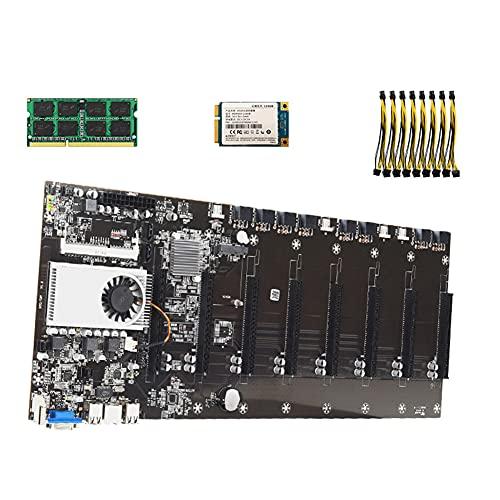 MOTINGDI BTC-T37 575mm escritorio ordenador minería placa base 8x PCI Express 16X DDR3 SODIMM máquina de minería placa base