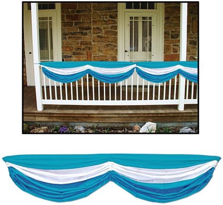 bluee & White Fabric Drapes  1.78m