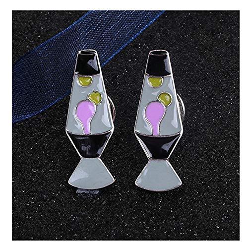 KAERMA Rosa Vase Nagellack Lippenstift Make Up Abzeichen Broschen Pins Rucksack-Dekoration for Frauen-Jeans-Taschen-Bekleidung Dekoratives Zubehör (Size : 2)