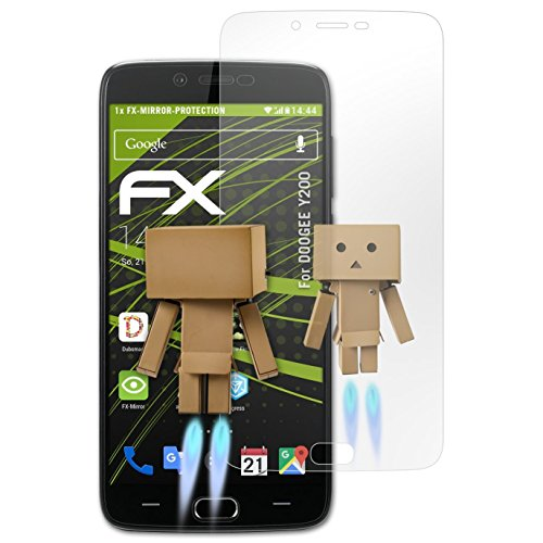atFolix Bildschirmfolie kompatibel mit DOOGEE Y200 Spiegelfolie, Spiegeleffekt FX Schutzfolie
