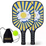 Pickleball Paddles, Pickleball Paddle, Pickleball Paddle Set of 2 Pickle Ball, Blue Boom