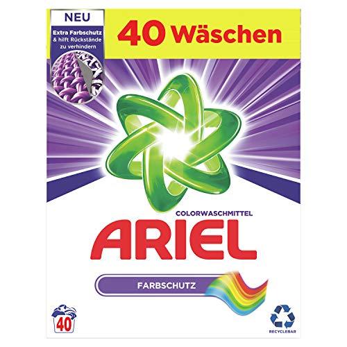 Ariel Waschmittel Pulver, Waschpulver, Color Waschmittel, 40 Waschladungen, Farbschutz (2.6 kg)