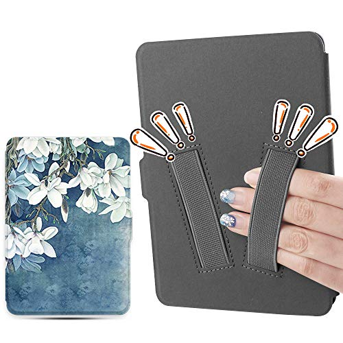 Youngme martshell case for 2018 All-New Kindle Paperwhite with 2pcs Hand Straps, Suitable for Small Hand Person/Wake for 10th Generation Kindle Paperwhite and Tiny Palm People (Kapok)