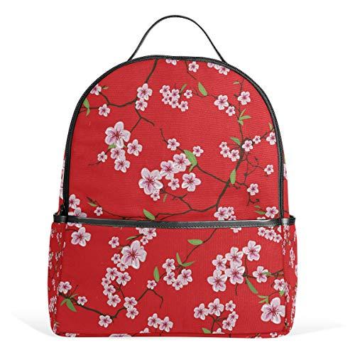 Mochila Japonesa Flower Tree Mochila School Travel Daycare para Adolescentes niños niñas