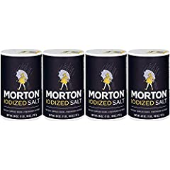Morton Iodized Salt, 26 oz (Pack of 4). High quality Morton iodized salt. Bulk value -- 104 oz total. Perfect to refill salt shakers. Each canister includes pour spout.