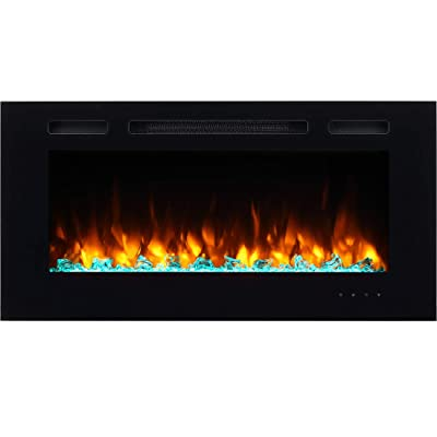 PuraFlame Alice 40 Inches Recessed Electric Fireplace