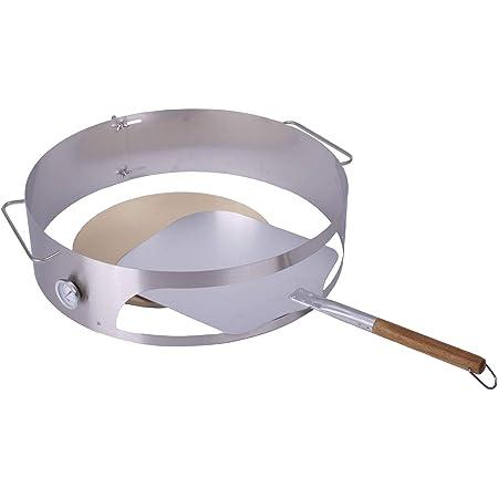 BBQ Basics, inserto per pizza per barbecue a sfera con diametro di 57 cm (pietra e pala)
