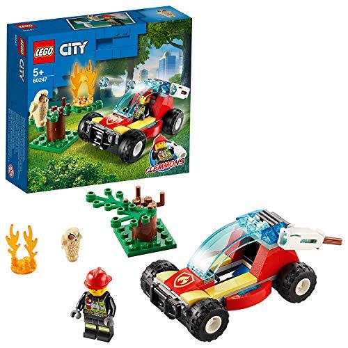 LEGO 60247 City Waldbrand, Bauset mit Buggy und Feuerwehrmann