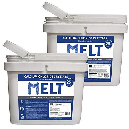 Best Buy! Snow Joe Melt Calcium Chloride Crystals 25 Pound Bucket (2 Pack)