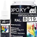 25 g Dipoxy-PMI-RAL 8019 grisáceo extremadamente alta concentrada, pasta de color para resina epoxi, resina de poliéster, sistemas de poliuretano, hormigón, barnices, pintura líquida para joyas…