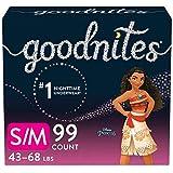 Goodnites Nighttime Bedwetting Underwear, Girls' S/M (43-68 lb.), 99 Ct