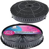 2x Filtro de carbón activado Ø 180 mm, Juego de 2 para campanas extractoras adecuada para el filtro de carbón Elica CFC0038668 Typ57, IKEA Nyttig 440, AEG 4055171138 - para campana extractora