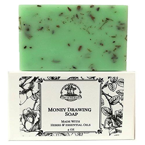 Money Drawing Shea Herbal Soap Bar Handmade For Prosperity, Wealth, FInancial Abundance & Cash Wiccan Pagan Hoodoo Voodoo