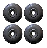 L'AVENIR Fitness PVC Weight Lifting (3Kg * 4 = 12kg) Black Weight Plates (12 kg)