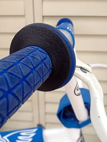 Premium Leather BMX bicycle grip donuts BLACK Handcrafted In Los Angeles product image