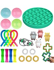 AMANNA Fidget Pack Cheap Toys Set with Sensory Simple Dimple Pop Bubble Infinite Cube Stress Ball and Anti-Anxiety Toys (25pcs-G)