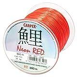 600m 'ROBINSON' rote monofile Angelschnur Karpfenschnur Method- Feederschnur (Ø 0,26mm / 14,0kg)