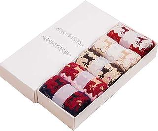 Renquen, 5 pares de calcetines mullidos para mujer, de lana de cachemira, calcetines de invierno, calcetines de lana, cálidos, cómodos y sin sudor, fantástica idea de regalo
