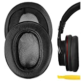 Geekria QuickFit Protein Leather Almohadillas para Auriculares Sony MDR-1ABT, MDR-1RBT, MDR-1RNC, Almohadillas de Repuesto para los oídos, Almohadillas de reparación de Auriculares (Negro)