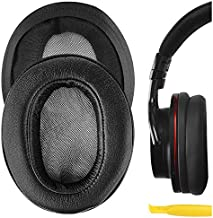 Geekria QuickFit Protein Leather Ear Pads for Sony MDR-1ABT, MDR-1RBT, MDR-1RNC Headphones, Replacement Ear Cushion/Ear Cups/Ear Cover, Headset Earpads Repair Parts (Black)