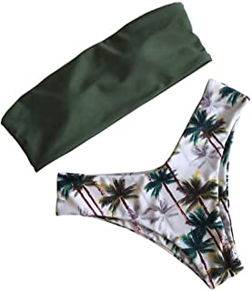 Print Bikini Set Bandeau Sexy Swimwear Women Beach Swimsuit Maio Biquini
