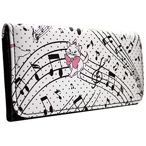 Aristocats Marie auf musikalischen Anmerkungen Weiß Portemonnaie Geldbörse
