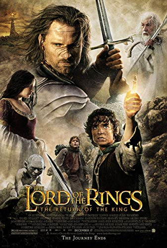 LORD OF THE RINGS RETURN OF THE KING MOVIE POSTER 2 Sided ORIGINAL FINAL 27x40