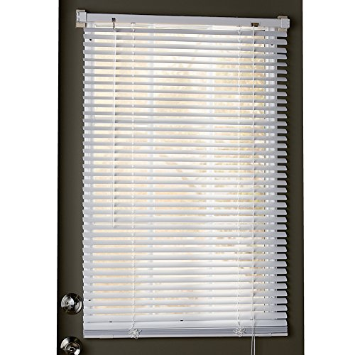 Collections Etc Easy Install Magnetic Blinds, 1' Mini Quick Snap on/Snap Off, for Steel Metal Door Windows, White, 25' X 40', White, 25' X 40'