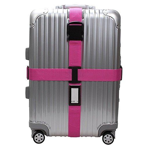 Kreuz Koffergurt Kofferband Gepäckgurt Gepäckband Reise Luggage Straps für 22-32 Zoll Koffer Blau/Pink/Orange