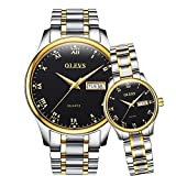 OLEVS Valentines Couple Pair Watches for Men and Women Lovers Romantic...