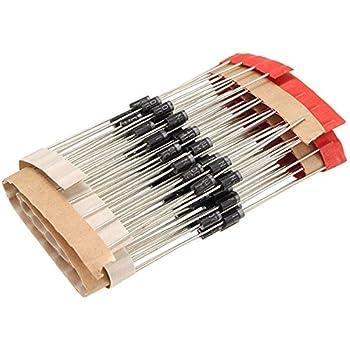 Dengineers 1N4007 DIP Rectifier Diode Rohs Lead-free Compliant -Set of 100 Pcs