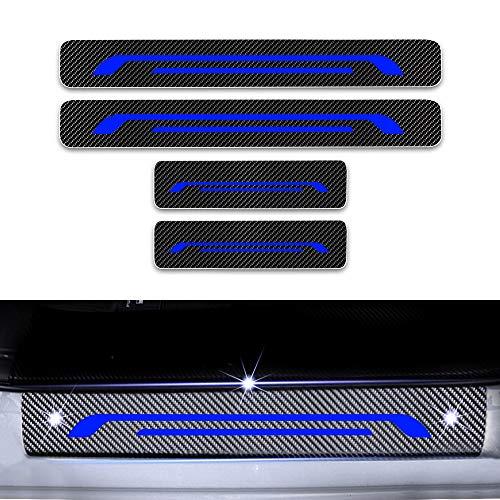 Cobear Einstiegsleiste Schutz Aufkleber Reflektierende Lackschutzfolie für Ion 108 208 2008 308 3008 4008 508 5008 Traeller Partner Einstiegsleisten Blau 4 Stück