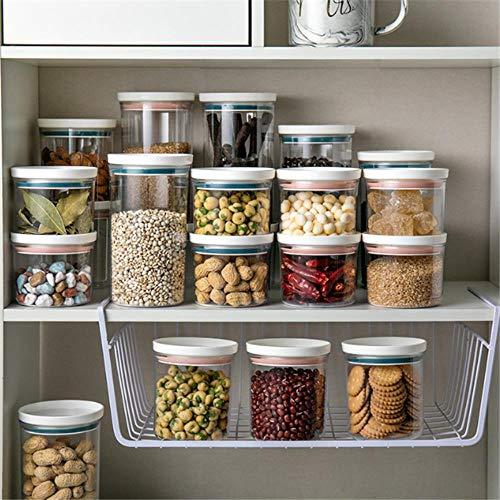 Cocina Cubierto Sellado Almacenamiento de alimentos Caja de mantenimiento fresco Artículos para el hogar Cocina Almacenamiento de alimentos de plástico Utensilios de cocina-púrpura