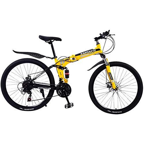 WJ Folding Mountainbike, 24 Zoll 21-Gang Leichte Tragbares Mini-Durable Premium Qualität Fahrrad Rennrad City Bike Für Erwachsene Männlich Weiblich Studenten