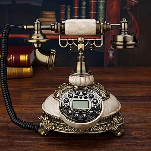 Teléfono Retro De La Línea Fija, Delicado Tabletop FSK/DTMF FSK/DTMF Teléfono De Dial Rotativo con Identificador De Llamadas, Rojo De Un Botón, Regalo/Decoración/Colección