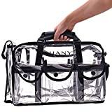 SHANY Clear Makeup Bag, Pro Mua rectangular Bag with Shoulder Strap, Large