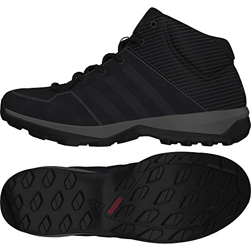 adidas Daroga Plus Mid Lea - Outdoor - Sneaker für Herren, Schwarz - Schwarz - Größe: 41 1/3 EU