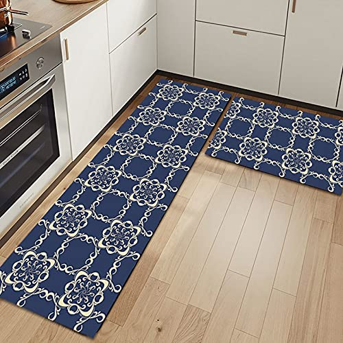 WESG Alfombra Antideslizante para Puerta con impresión 3D de Cocina de Moda, Alfombra para Puerta de Entrada a casa Moderna, Alfombra Absorbente para baño NO.4 50X80cm y 50X160cm