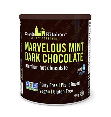 Castle Kitchen Marvelous Mint Dark Chocolate - Dairy-Free, Vegan Premium Hot Chocolate Mix - Just Add Water - 14 oz