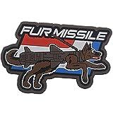 Fur Missile Morale Patch Dog Tactical Patches Hook Military Badge 3D PVC Fur